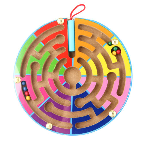 Magnetic Maze Wooden Educational Puzzle Game Board Learning Toys for Baby Kids