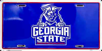georgia state university panthers college ncaa logo license plate usa made