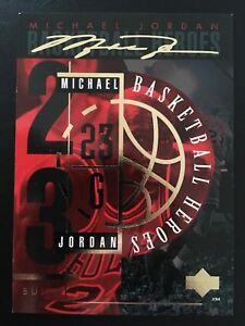 1994-95-Upper-Deck-MJ-Basketball-Heroes-Gold-Signature-JH-Michael-Jordan