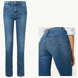 New Womens Marks /& Spencer Blue Skinny Leg Jeans Size 18 12 Medium