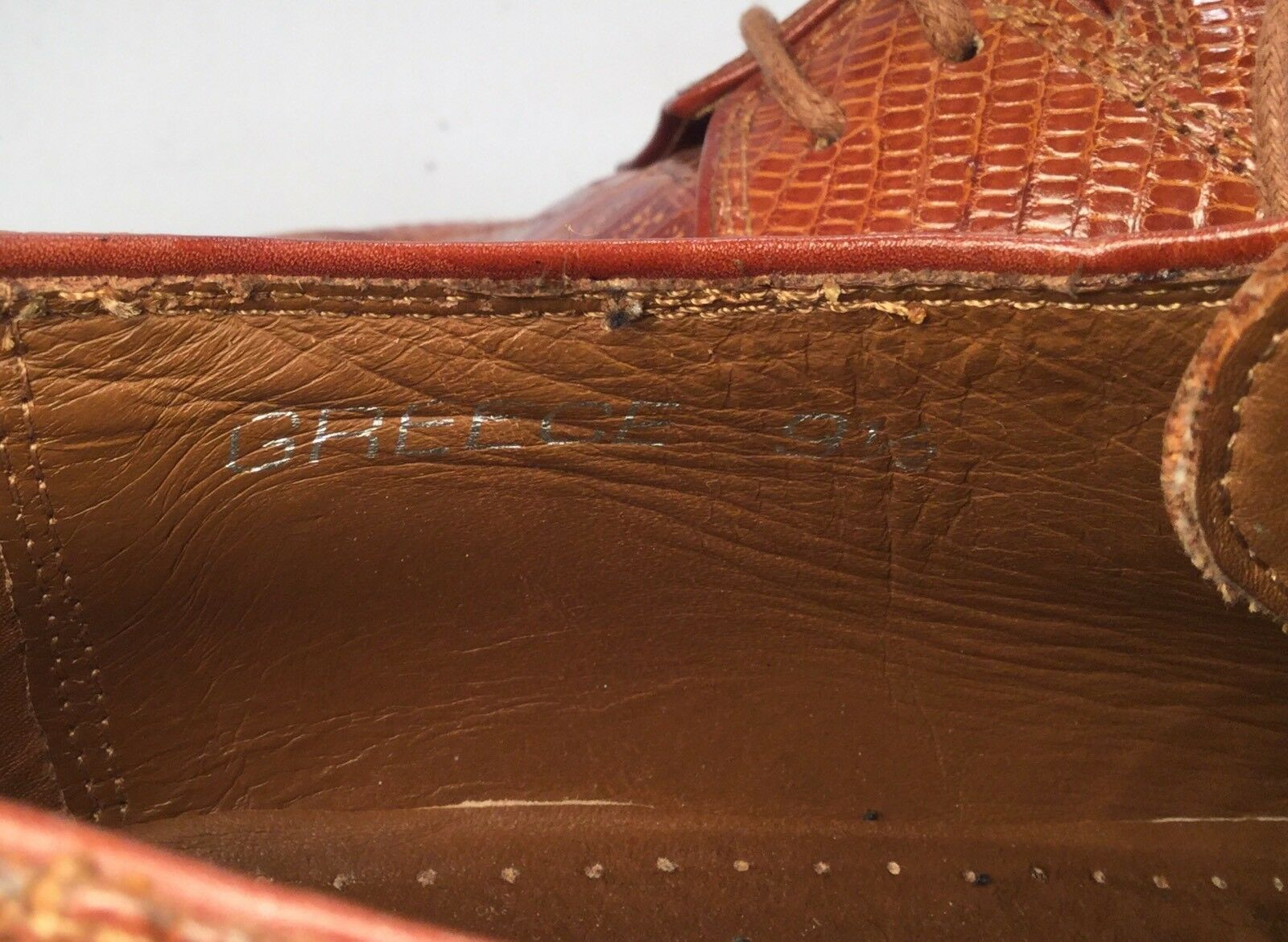David Eden Light braun Crocodile Crocodile braun Alligator Lace Dress Up schuhe Sz 9 1 2 Sharp cc88e9