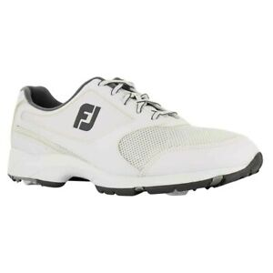 Mens FootJoy Athletics Spikeless Closeout Golf Shoes 56813 White Sz 14M