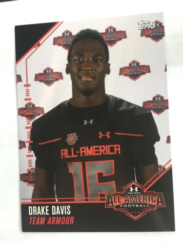 Drake Davis 2016 Topps Under Armour All America Football Card LSU Tigers
