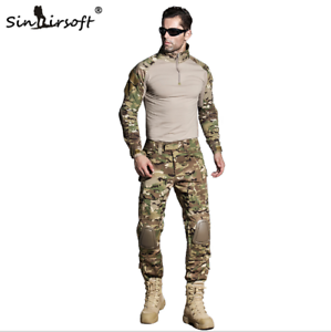Military Clothing Camouflage Short Combat Shirt Digital Camouflage Acu At-fg Multicamo Top Shirt Clothes Military Work Wear & Uniforms