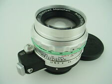 Steinheil Munchen 100mm F/3.5 Exakta Mount Auto-Quinar Lens w/ Shade & Caps