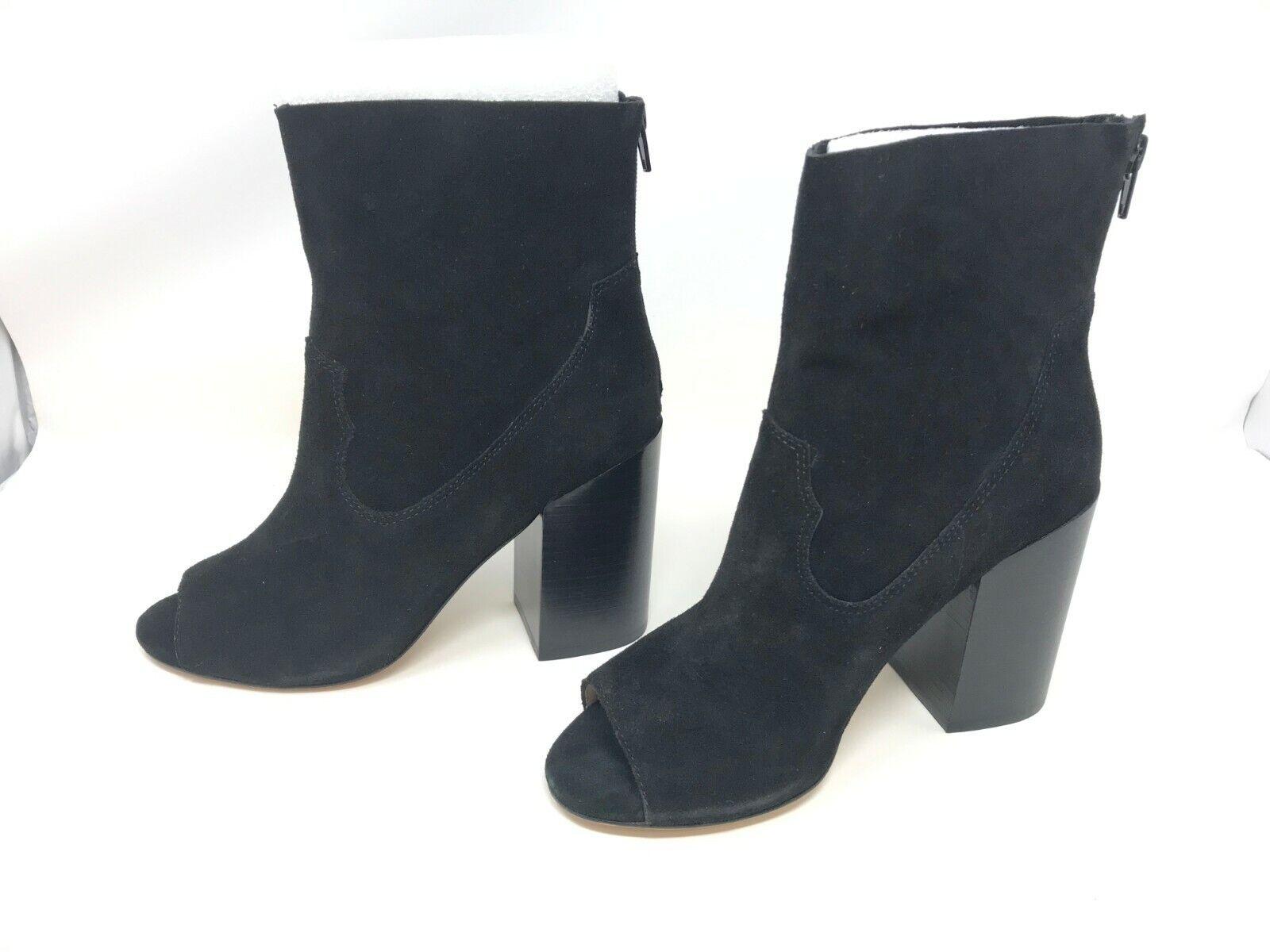 Para mujer Bettye Muller Waight Negro Peep Toe Botines (R20)