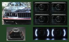 H4656 H4666 H4651 H4656 4 White LED Halo Black Projector Headlights 4x6