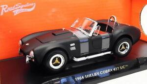 Carretera-firma-1-18-Escala-Modelo-de-Coche-92058-1964-Shelby-Cobra-427-S-C-Matt-Negro