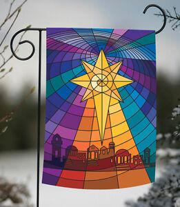 Toland Star Of Bethlehem 12 5 X 18 Christmas Colorful Stained Glass Garden Flag 17917056365 Ebay