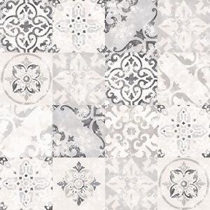 Details Sur G12290 Cuisine Recettes Effet Carrelage Noir Gris Blanc Galerie Papier Peint