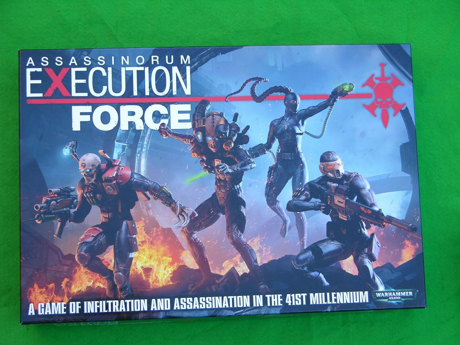 ASSASSINARUM EXECUTION FORCE, UNPUNCHED, FIGURES ASSEMBLED