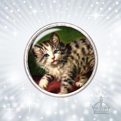 Katze Kitty Cat Click Button Druckknopf kompatibel m. Chunks System CB145
