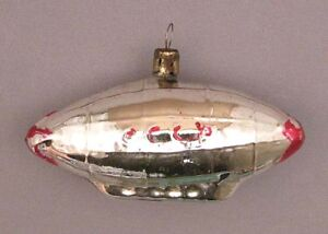 Details About Christmas Tree Decoration Dirigible Russian Cccp Ornament Soviet Vintage Xmas