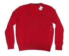 item 8 Polo Ralph Lauren Womens Grey Red Navy V Neck Slim Cotton Knit Pony  Logo Sweater -Polo Ralph Lauren Womens Grey Red Navy V Neck Slim Cotton  Knit Pony ...