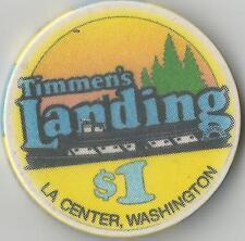 TIMMEN'S LANDING   $1 CASINO  CHIP LA CENTER WA