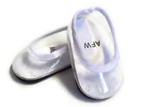 White Clear Glitter Flats Shoes Made For 18 American Girl Doll Clothes