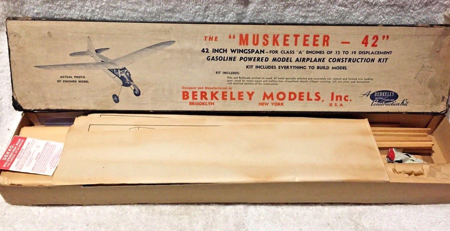 Der musketier 1946 berkeley - 42  balsa - flugzeug fr gasbetriebene motoren