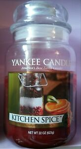 Yankee Candle It.Details About Yankee Candle Large Jar Candle Kitchen Spice Used About Half Gone