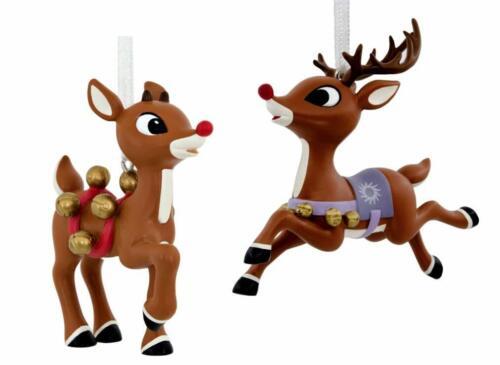 Set of Hallmarks Reindeer Christmas Ornaments Keepsake Rudolph and Clarice