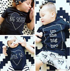 0-3Y Baby Boys Girls Kids Summer Brother Short Sleeve T-shirt Tee Tops Clothes