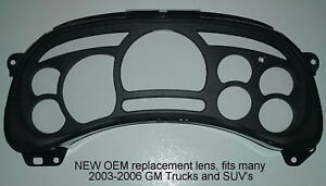 GMC Sierra + others GM 2003-2006 replacement lens for many GM trucks and SUV/'s