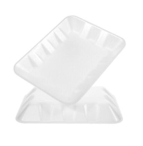 500//PK CKF 4DW #4D White Foam Meat Trays