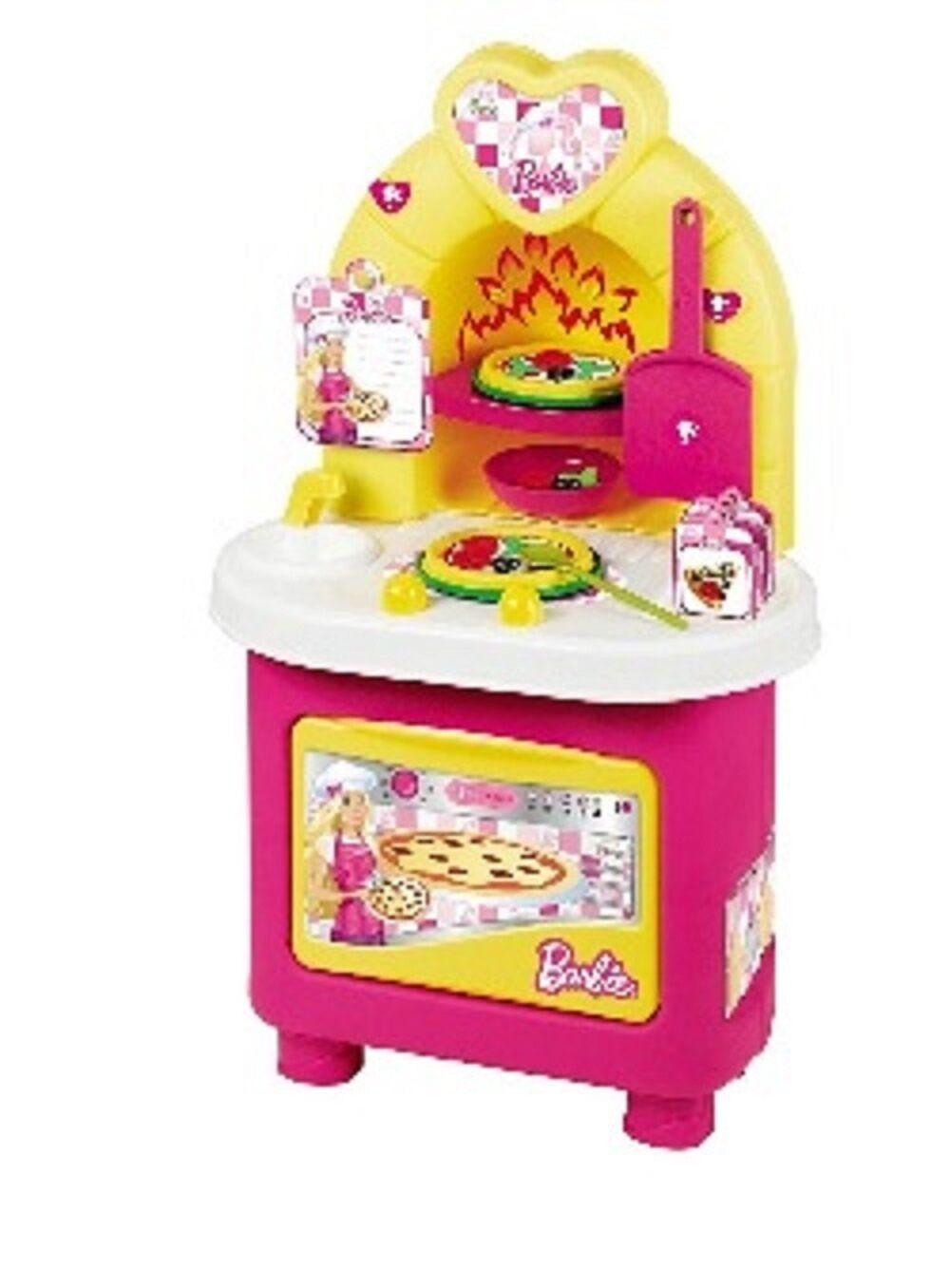 Big Kitchen Set Spela Faro Barbie Doll Cooking Chef Ages 3 leksak Pizza