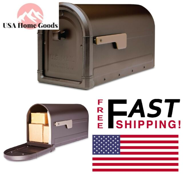 Architectural Mailboxes Roxbury Post Mount Mailbox Rubbed Bronze