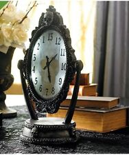 ANIMATED Haunted Revel Clock Halloween Spooky Skull Display Prop Scary Noises