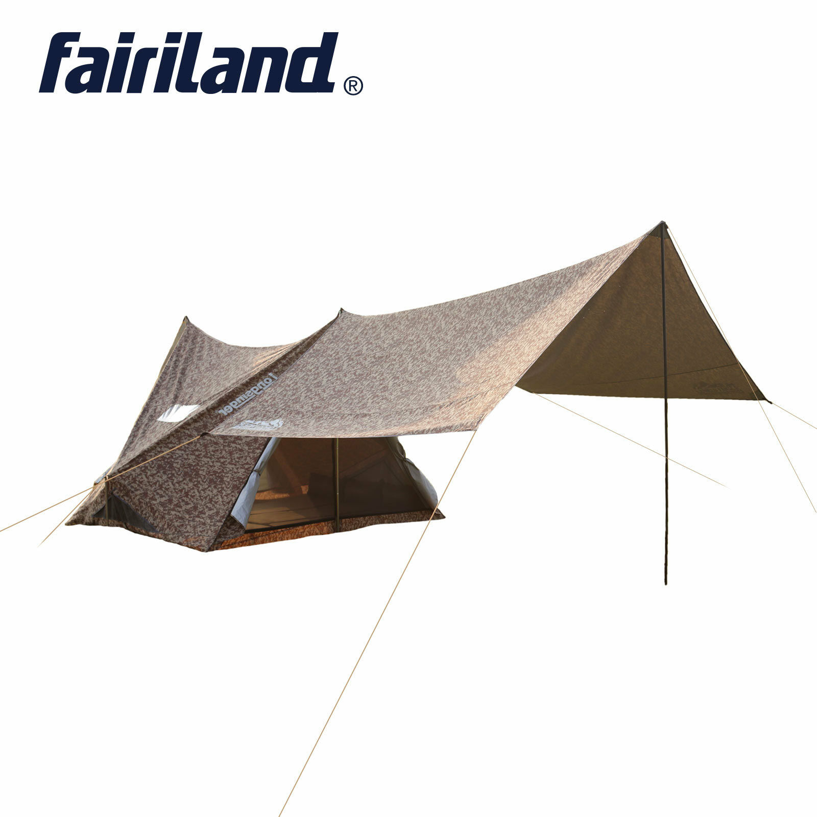 US 110.2x94.5x76.8in 5 person Family camping  tent with large rain fly tent tarp  factory direct sales