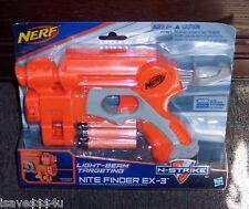 NEW NERF N-STRIKE NITE FINDER EX-3 DART GUN LIGHT-BEAM TARGETING FOR USE IN DARK