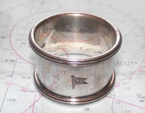 Original WHITE STAR LINE Elkington Napkin Ring No 94 Titanic Olympic etc
