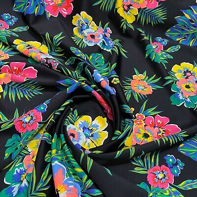 Nylon Lycra Print fabric four Way Stretch Spandex by yard