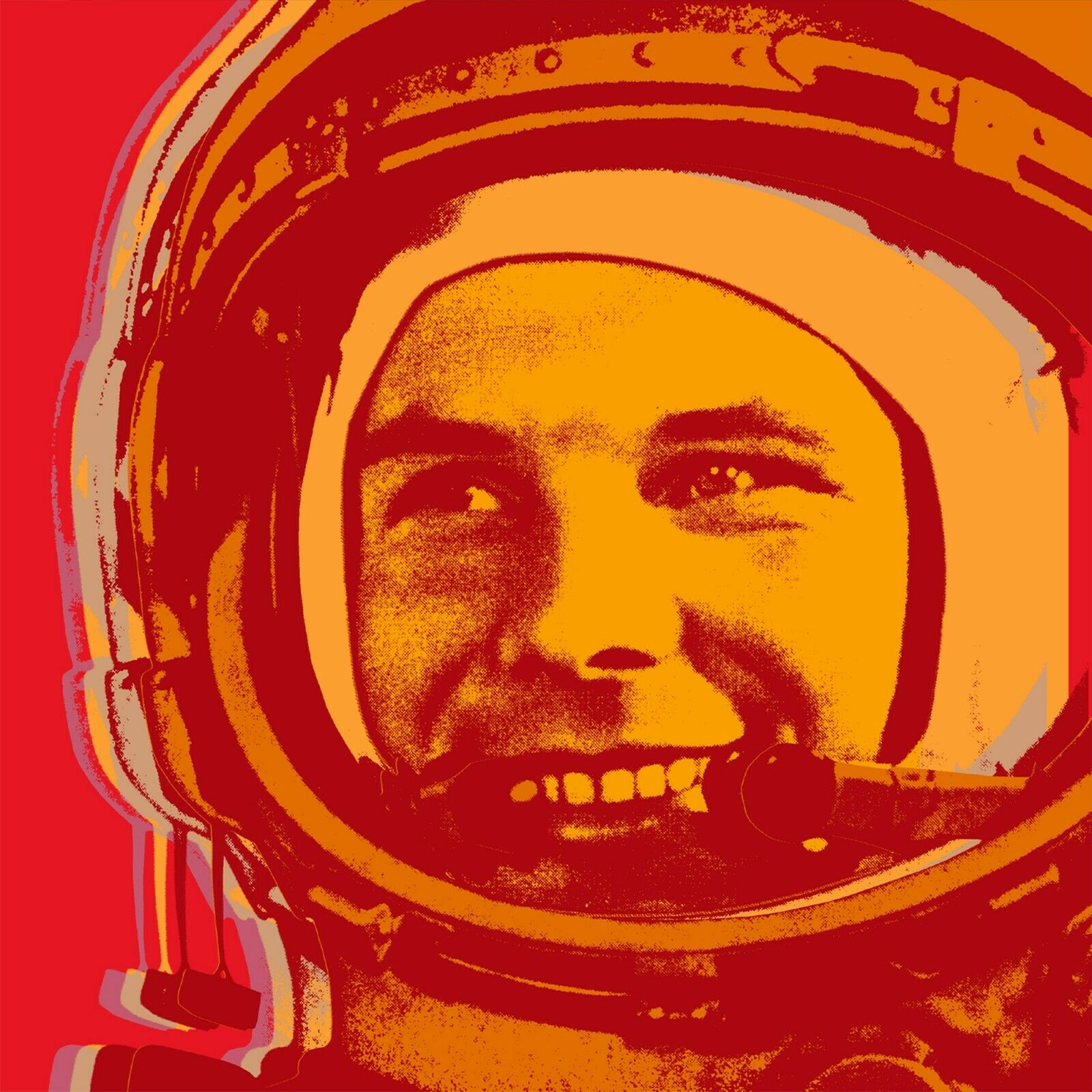 Yuri Gagarin Pop kunst drucken - 17 1 2  x 17 1 2  - on canvas