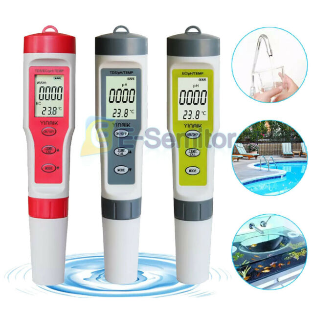 4 in 1 Portable LCD Water Quality Water Purity Tester TDS//EC//PH//TEMP Pen Monitor
