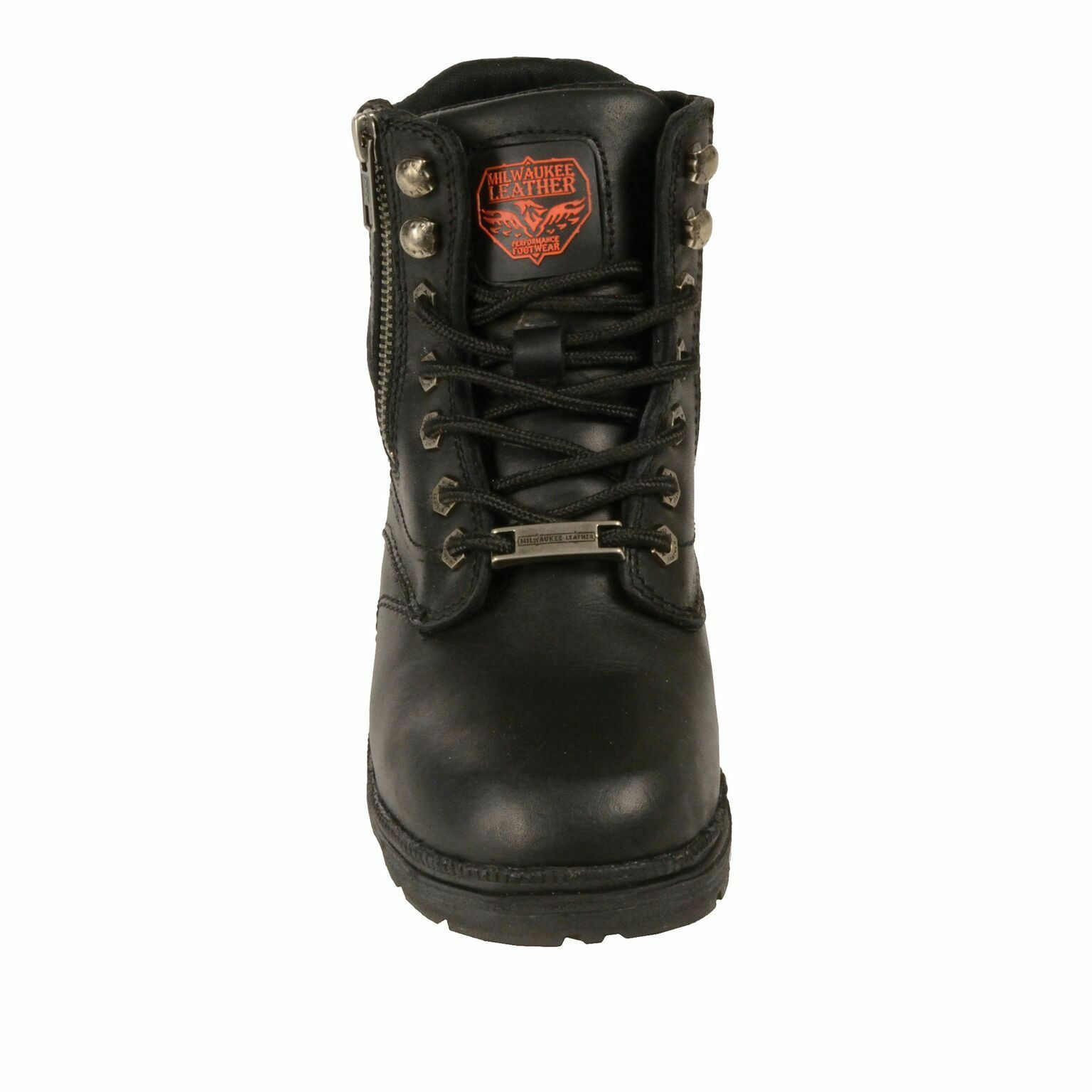 Milwaukee Leather Bota Mujer Cremallera lateral Bota Leather Puntera lisa-MBL9320 5bfdb5