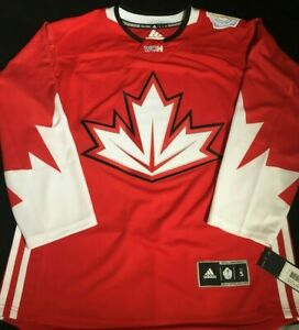 Men-039-s-Canada-World-Cup-of-Hockey-Premier-Jersey-Adidas-NHL-Red-Size-Small-2XL