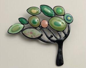 Unique-Tree-Brooch-Pin-in-enamel-on-metal