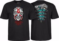 Powell Peralta Chin Mask Skateboard Shirt Black Large