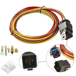 Details about Dual Electric Cooling Fan Wiring Harness Install Kit on