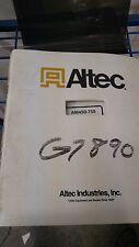 Altec Industries AM450-755 Operators Manual Maintenance & Parts manual