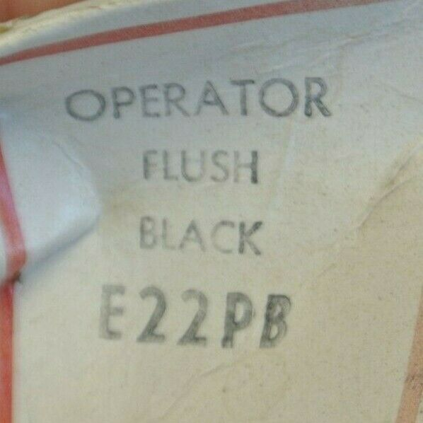 Cutler Hammer E22PB Black Flush Pushbutton Operator for sale online