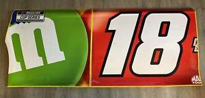 Kyle Busch #18 NASCAR Race Used Sheet Metal 2021 Bristol Dirt