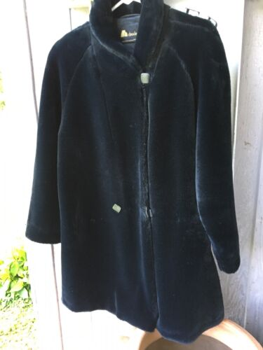 Vintage Claude Harvey Paris France Faux Fur Coat