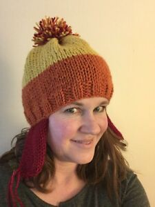 3c918d0ea5d Image is loading Firefly-Jayne-Cobb-Knitted-Hat-Cranberry-Ear-flaps
