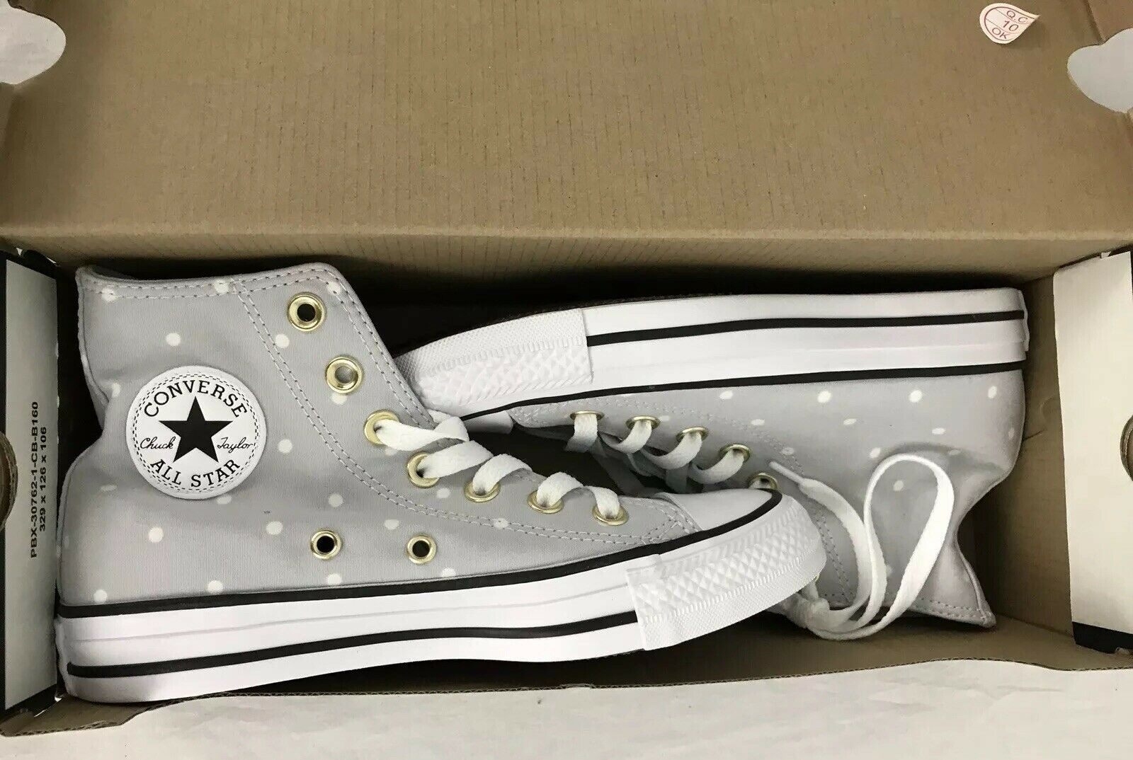 Converse donna's Chuck Taylor All Star High Top scarpe scarpe scarpe Polka Dots US Dimensione 5 New 255ead