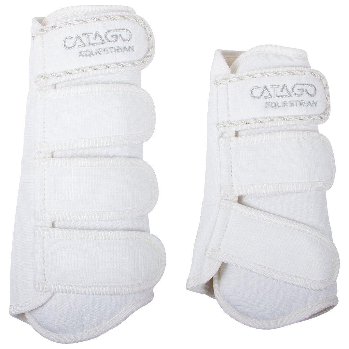 CATAGO Gamaschen DIAMOND - white - Pony Reiten Pferde Beinschutz Turnier Zubehör