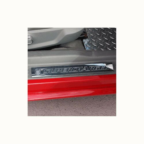 05-14 Mustang Door Sill Show Quality Polished Finish Supercharged Sills 2pc