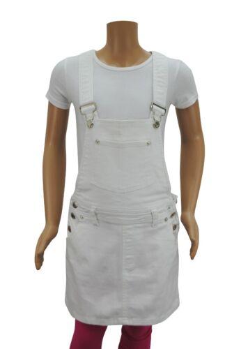 Girls Wanna Be Dungarees Dress Denim White Age 7 8 9 10 12 13 14 Years