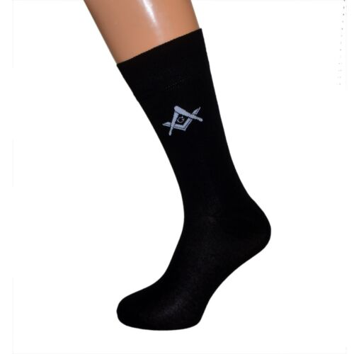 Freemasons Masonic Shirt Button Cover Cufflinks A Pair Black Socks with /'/'G/'/'